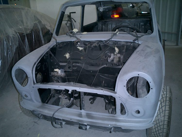 Austin Mini Cooper - Restauration carrosserie