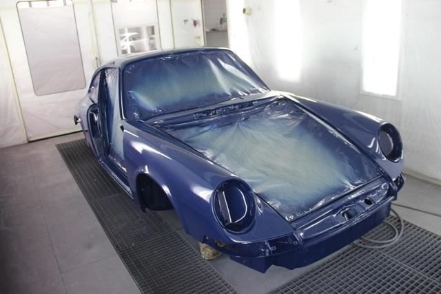 Porsche 2.2S 1971 SONAUTO - Mise en peinture